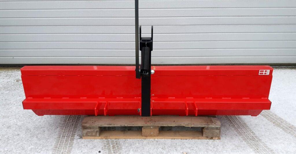 Bagtipskovl til trepunktsophæng kategori 2. 201 cm bred. 140 liter. Fra AH-Maskiner.